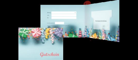 Kartenhalter für Gutscheine & Co.